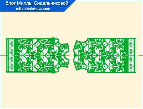 11-kak-razlozhyt-vykrojku-na-tkani-s-bordyurami