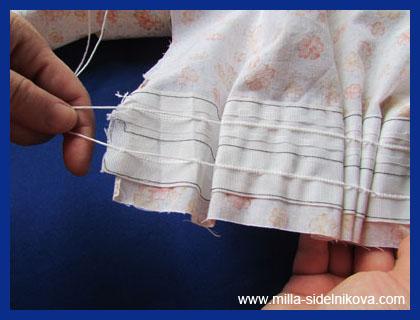 16 vidy skladok na tkani