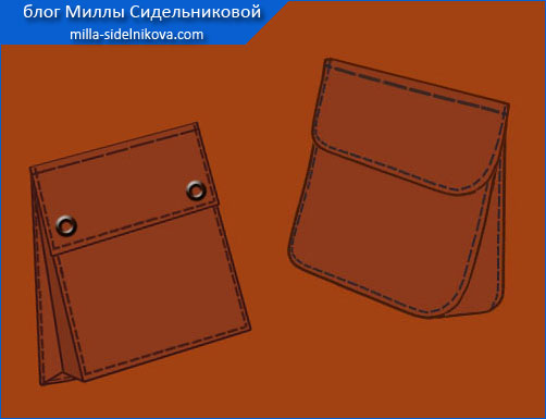43a karman portfel s klapanom