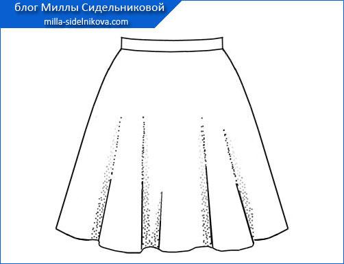 Пошаговая инструкция выкройки юбки колокол